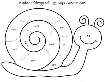 Snail Shell--Practice Reading r-Controlled Vowels by