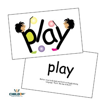SnapWords® Sight Word List A Teaching Cards by Child1st
