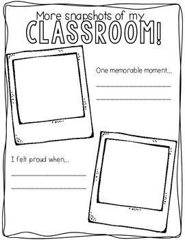 Snapshots End of Year Memory Book PreK-2 Edition {English