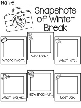 Snapshots of Winter Break- FREEBIE by Aimee