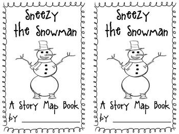 Sneezy the Snowman Story Map Minibook by Elizabeth Mullen