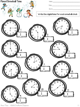 Telling Time: Activities for teaching time for 2nd and 3rd