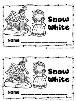 Snow White (A Sight Word Emergent Reader and Teacher Lap