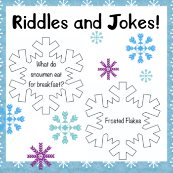 Snowflake Jokes Interactive Winter Bulletin Board by