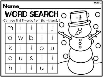 Snowman Themed NO PREP Kindergarten Language Arts Pack