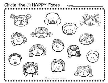 Social Emotional Worksheets Set 1: Identifying Feelings by