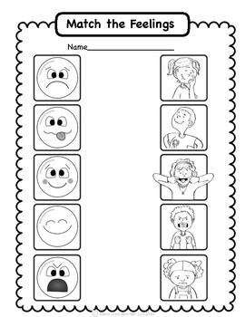 Social Emotional Worksheets Set 2: Identifying Feelings by