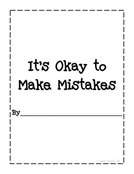 Social Story: It's Okay to Make Mistakes by Jaclyn Watson