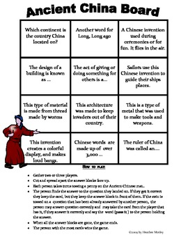 Social Studies: Ancient China Assessment, Study Guide and