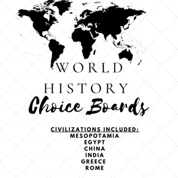 Social Studies Choice Board Bundle-World History by Teach