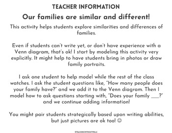 |FREE!| Social Studies: Comparing Families Partner