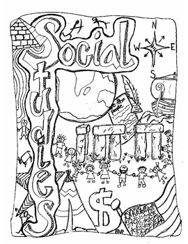 Social Studies Interactive Notebook Cover by Randi Restau