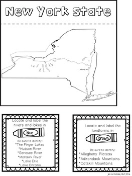 Social Studies Series: New York State Lap Book by
