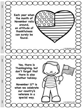 Social Studies Story #2 (Veterans Day): Color-N-Read Mini
