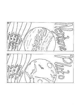 Solar System Bookmarks PDF Printable Coloring Page by