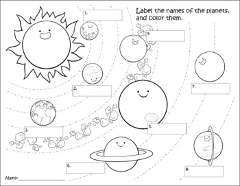 Solar System Clip Art, Coloring, and Worksheets by Brianne