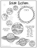 Solar System Cut And Paste Worksheets & Teaching Resources