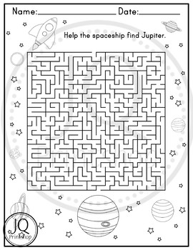 Solar System Worksheets, Planets Worksheets, Word Search