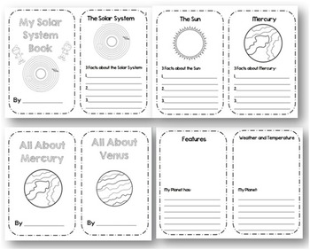 Solar System and Planet Report Flipbooks by Creative
