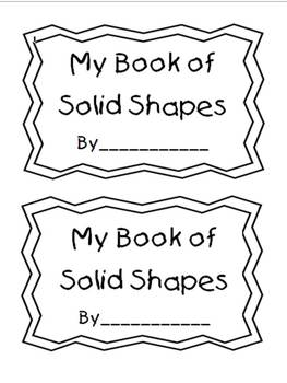 Solid Shapes Book Activity for Kindergarten and First