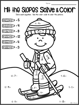 Solve and Color: Color by Number with Touch Math for