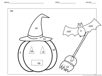Solving 1-Step Equations: Halloween Color By Number by 4