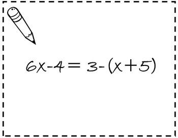 Algebra 1 Solving Equations Activity {Solving Multi-Step