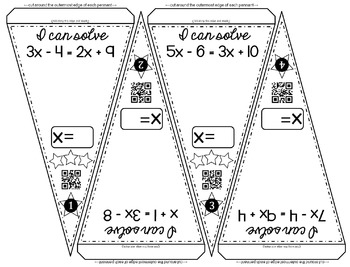 Multi-step Equations Math Pennant Activity by Scaffolded