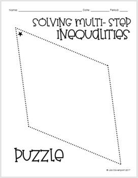 Solving Multi- Step Inequalities (Mini Puzzle) by Lisa