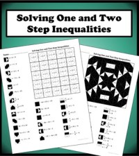 Solving One and Two Step Inequalities Color Worksheet by ...