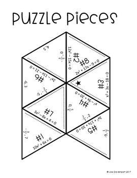 Solving Quadratics by Factoring (Mini Puzzle) by Lisa