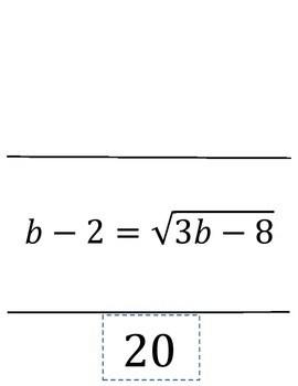 Solving Radical Equation Scavenger Hunt by Creative Math