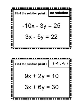 Solving Systems of Equations Using Elimination Scavenger