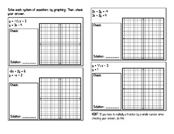 Solving Systems of Equations by Graphing Interactive