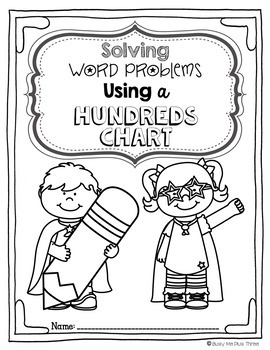 Word Problems Using a Hundreds Chart & Ten Frames (Number