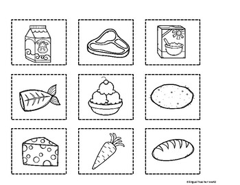 Sort It Out: Food Groups Cut and Paste Activity by
