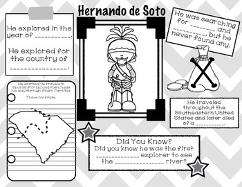 South Carolina Explorers: Explorer Fact Files by The