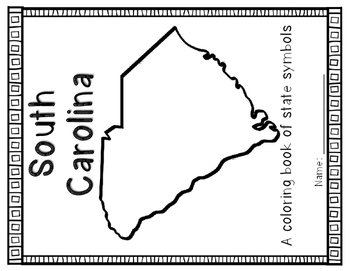 South Carolina Symbols Coloring Book by Resources to the