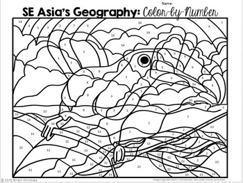 Southern and Eastern Asia: Color-by-Number by Brain