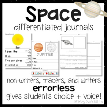 Space Differentiated Leveled Journal Writing for Special