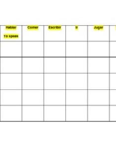 Spanish present tense blank verb chart also by spantechteacher tpt rh teacherspayteachers