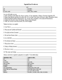 Spanish 1: Ser Worksheet by SpanishFanatic