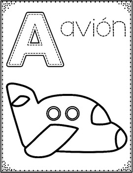 Spanish Alphabet Coloring Pages: Letter of the Week