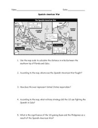 Worksheet Spanish American War - Kidz Activities