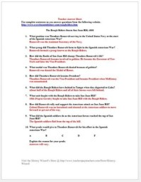 Spanish American War Worksheet: The Battle for San Juan ...