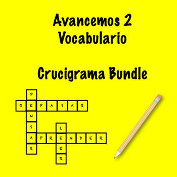 Spanish Avancemos 2 Crosswords Bundle by Srta's Spanish