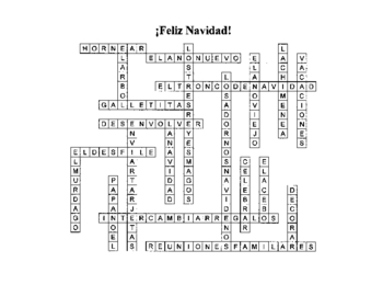 Christmas Decorations Crossword Puzzle Answer Key