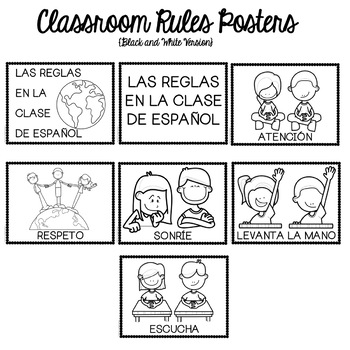 Spanish Classroom Rules for Interactive Notebooks by Fun