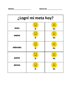 also spanish daily goal behavior chart parent communication by raquel vazquez rh teacherspayteachers
