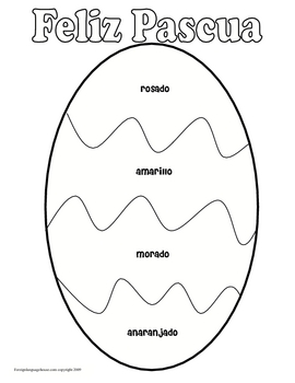 Spanish Easter Egg Coloring Sheet by CF Language Content